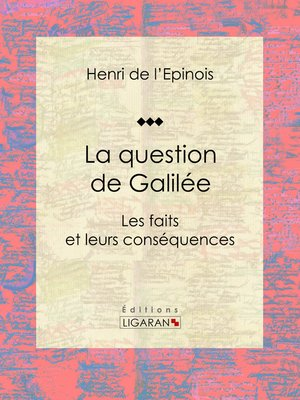 cover image of La question de Galilée