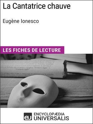 cover image of La Cantatrice chauve d'Eugène Ionesco