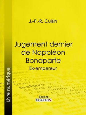 cover image of Jugement dernier de Napoléon Bonaparte