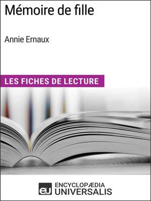 cover image of Mémoire de fille d'Annie Ernaux