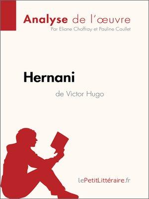 cover image of Hernani de Victor Hugo (Analyse de l'oeuvre)
