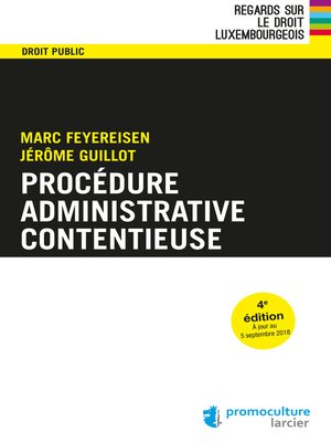 cover image of Procédure administrative contentieuse