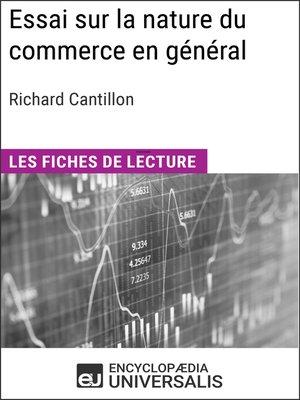cover image of Essai sur la nature du commerce en général de Richard Cantillon