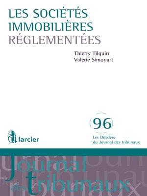 cover image of Les sociétés immobilières réglementées