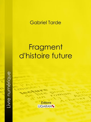 cover image of Fragment d'histoire future