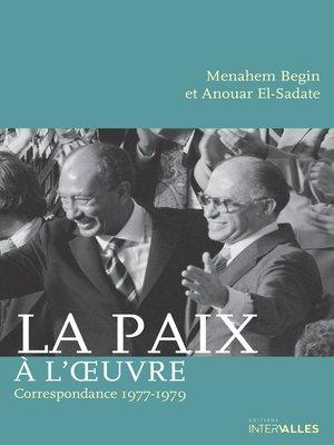 cover image of La Paix à l'œuvre