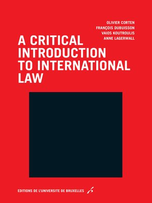 cover image of A critical introduction to international law