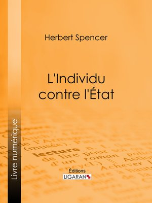cover image of L'Individu contre l'État