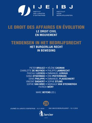 cover image of Het burgerlijk recht in beweging / Le droit civil en mouvement