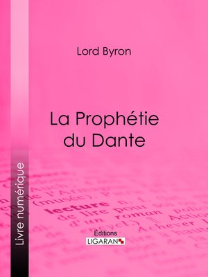 cover image of La Prophétie du Dante