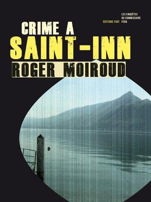 cover image of Crime à Saint-Inn