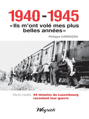 """cover image of 1940-1945--""""Ils m'ont volé mes plus belles années"""""""