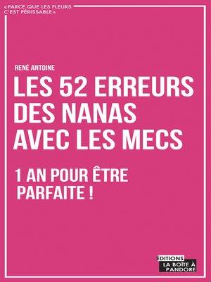 cover image of Les 52 erreurs des nanas avec les mecs