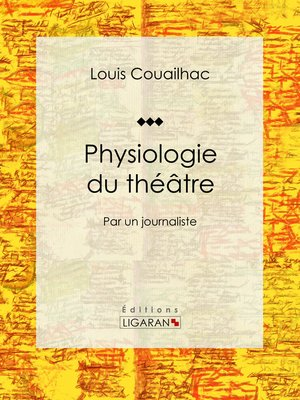 cover image of Physiologie du théâtre
