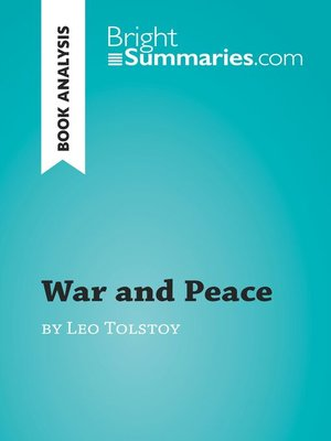 cover image of War and Peace by Leo Tolstoy (Book Analysis)