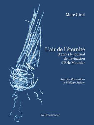 cover image of L'air de l'éternité