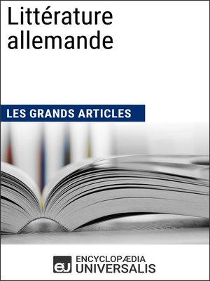 cover image of Littérature allemande