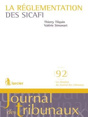 cover image of La réglementation des sicafi