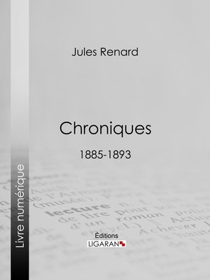 cover image of Chroniques 1885-1893