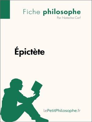 cover image of Épictète--Fiche philosophe