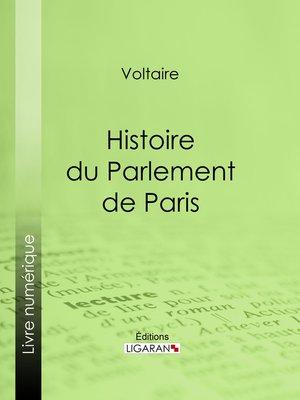 cover image of Histoire du Parlement de Paris