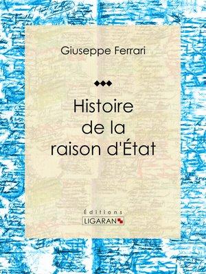 cover image of Histoire de la raison d'État
