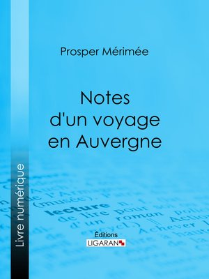 cover image of Notes d'un voyage en Auvergne