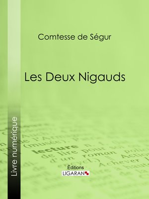 cover image of Les deux nigauds