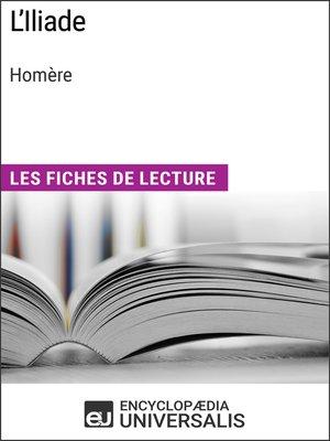 cover image of L'Iliade d'Homère