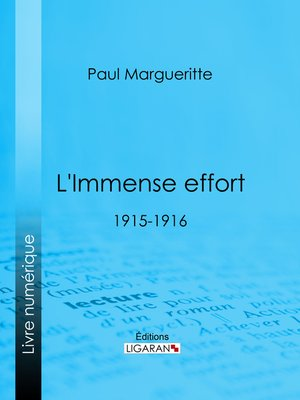 cover image of L'Immense effort