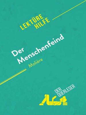cover image of Der Menschenfeind von Molière (Lektürehilfe)