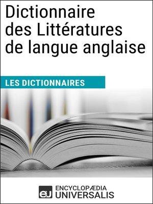 cover image of Dictionnaire des Littératures de langue anglaise