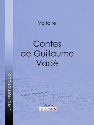 cover image of Contes de Guillaume Vadé