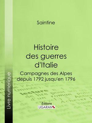 cover image of Histoire des guerres d'Italie