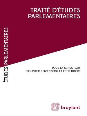 cover image of Traité d'études parlementaires