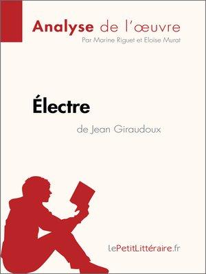 cover image of Électre de Jean Giraudoux (Analyse de l'oeuvre)