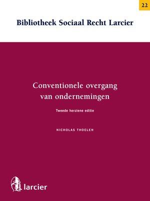 cover image of Conventionele overgang van ondernemingen