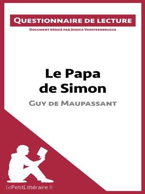 cover image of Le Papa de Simon de Maupassant