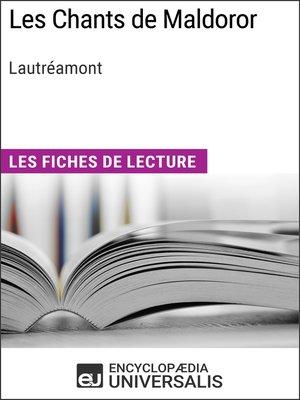 cover image of Les Chants de Maldoror de Lautréamont