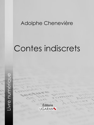 cover image of Contes indiscrets