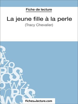 cover image of La jeune fille à la perle