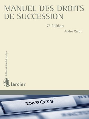 cover image of Manuel des droits de succession