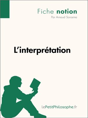 cover image of L'interprétation--Fiche notion