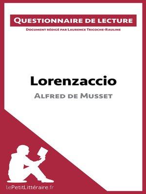 cover image of Lorenzaccio d'Alfred de Musset