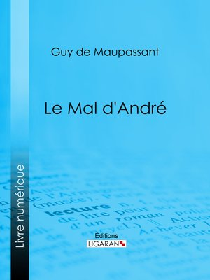 cover image of Le mal d'André