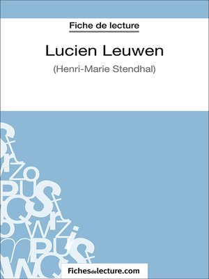 cover image of Lucien Leuwen