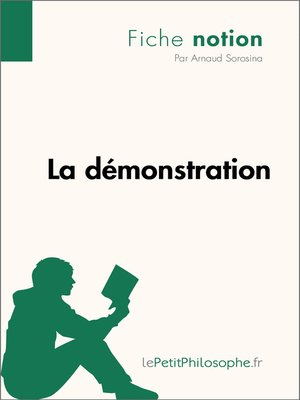 cover image of La démonstration--Fiche notion