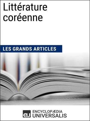cover image of Littérature coréenne