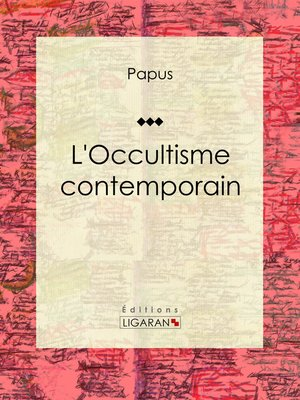 cover image of L'Occultisme contemporain