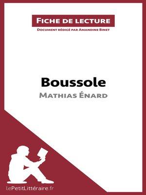 cover image of Boussole de Mathias Énard (Fiche de lecture)